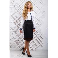 Стильна жіноча блуза з довгим рукавом батал