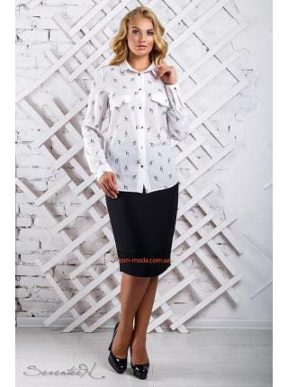 Женская блузка большого размера в принт