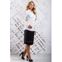 Жіноча блузка великого розміру в принт