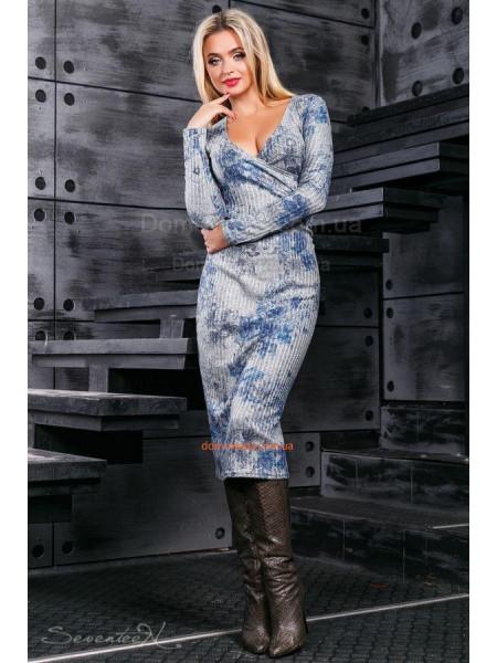 Жіноче міді плаття з глибоким декольте ... a3abc020b5fd7