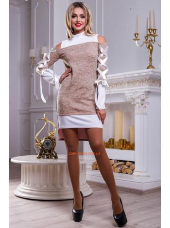 Оригінальна сукня жіноча із плетіннями