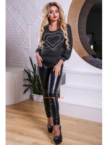 Женская модная кофта свитшот с сердцем