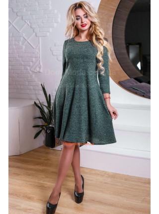 Модное платье женское трикотажное с рукавом