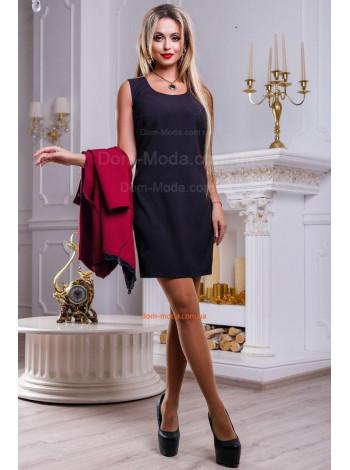 Женское однотонное платье без рукав