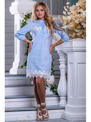 Платье рубашка с воротником стойка