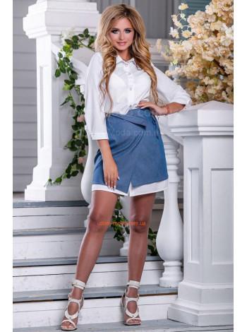 Летний костюм с юбкой и рубашкой