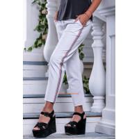 Модные укороченные штаны с карманами