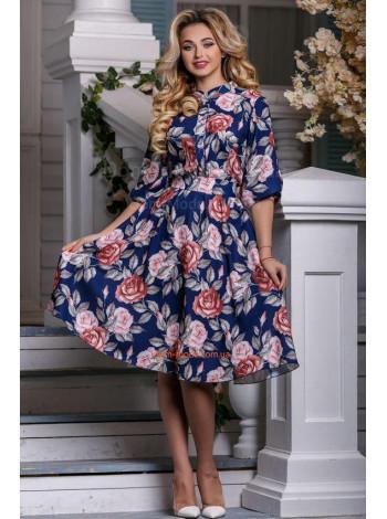 0a616a2321993a Жіноче темно-синє плаття з квітковим принтом купити за 710 грн St ...