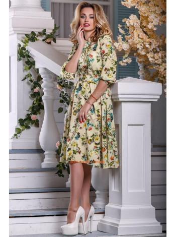 Платье с цветочными мотивами