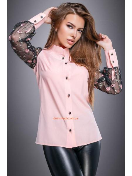 Стильна рубашка із оригінальними рукавами