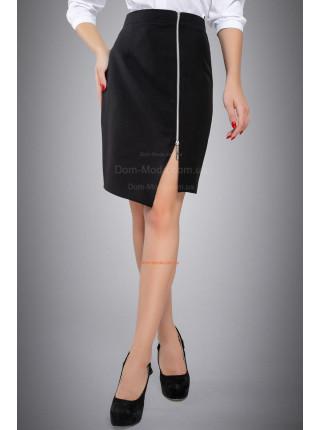 Стильная классическая юбка с молнией