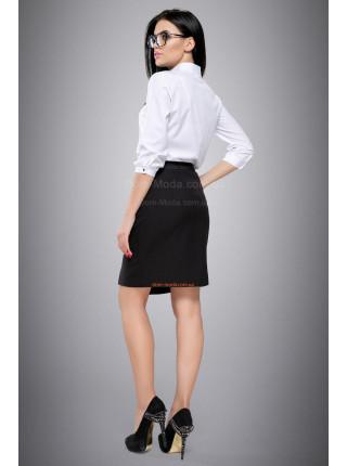 Блуза белая с рукавом три четверти на пуговицах