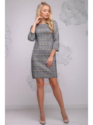 Платье короткое женское в клетку