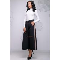 Женские брюки кюлоты с лампасами