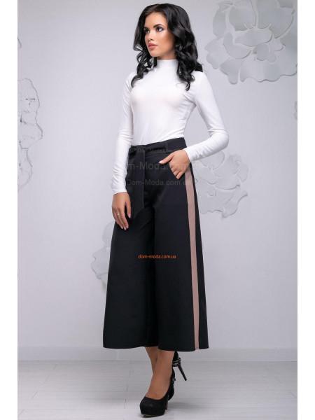 Жіночі брюки кюлоти із лампасами