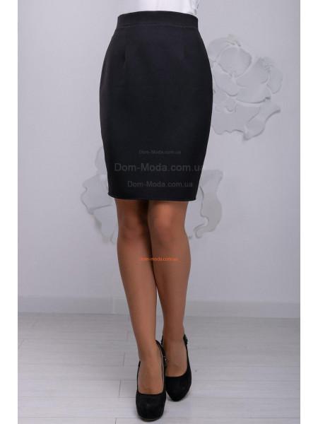 Классическая короткая юбка женская черного цвета