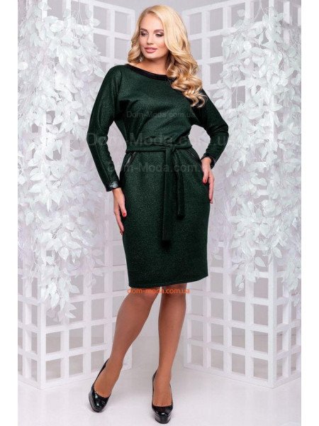 Стильное демисезонное платье женское большого размера