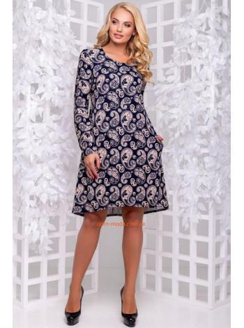 Сукня жіноча короткадля повних в принт