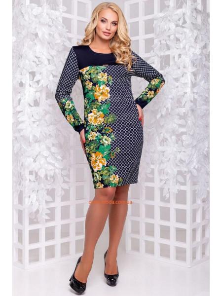 Оригінальна коротка сукня в принт великого розміру