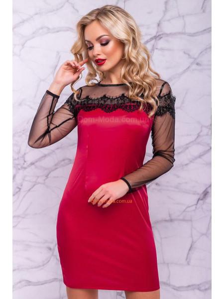 Короткое вечернее платье красного,желтого, розового и электрик цвета