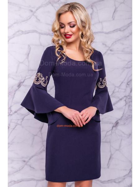 Женское нарядное платье с пышными рукавами