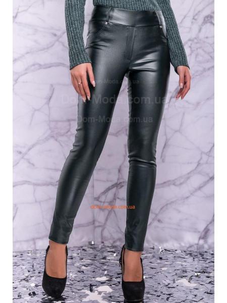 Женские лосины из кожи черного,бордового и изумрудного цвета