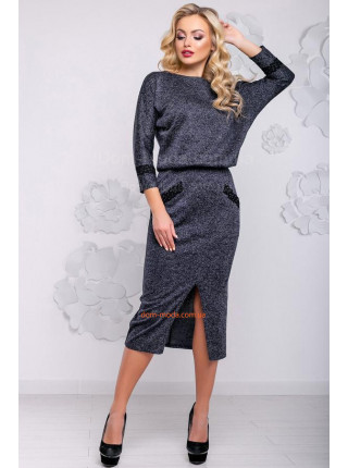 Модне жіноче плаття міді із ангори