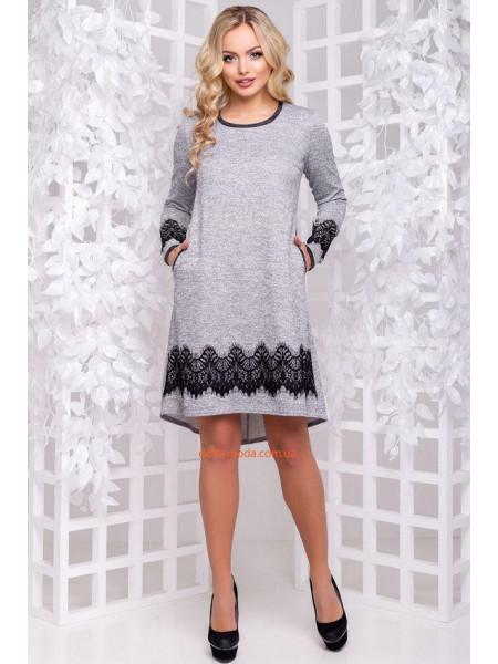 Стильное асимметричное платье с карманами