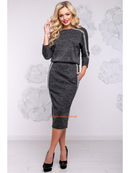 Сукня жіноча модна із ангори з люрексом