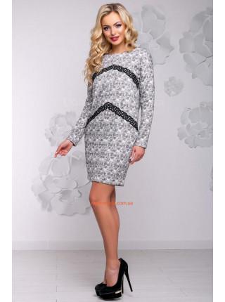 Стильна коротка сіра сукня із ангори