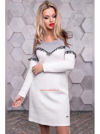 Модне плаття коротке із бахромою