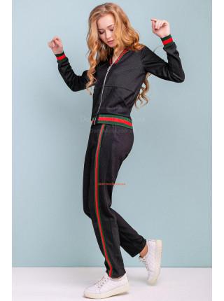 Спортивный костюм женский с бомбером