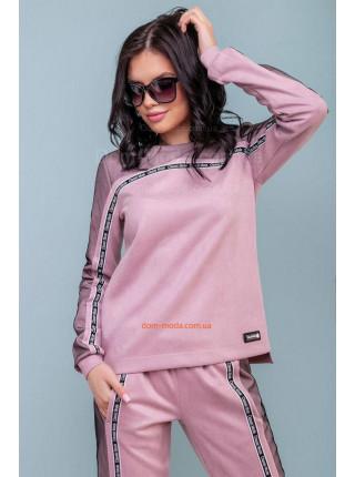 Женский спортивный костюм розового цвета