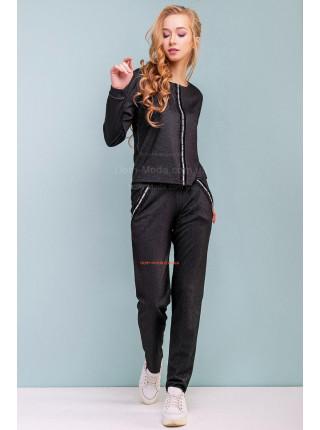 Спортивный костюм женский черного цвета