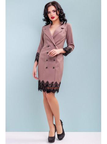 Женское платье пиджак на пуговицах