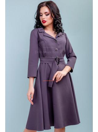 Модное женское платье с пышной юбкой и поясом