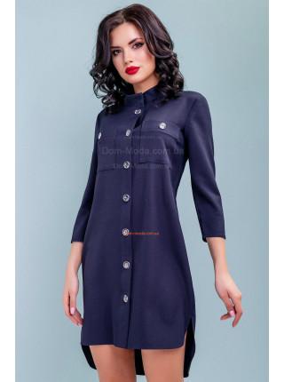 Асимметричное платье свободного кроя с поясом
