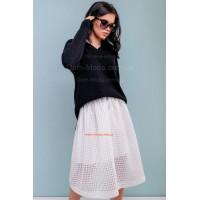 Стильная женская белая юбка