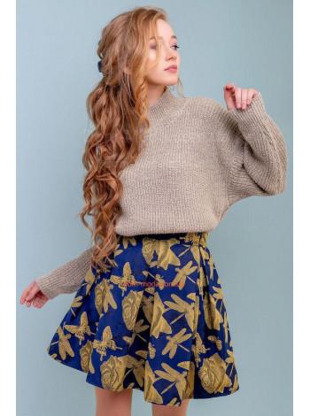 Короткая юбка женская в принт