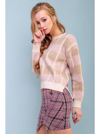Жіночий модний джемпер в клітку