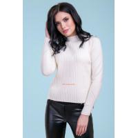 Женский белый свитер с длинным рукавом