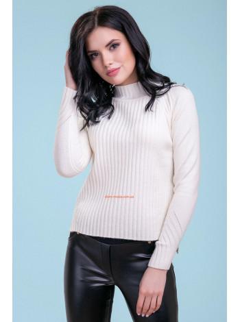 Жіночий білий светр із довгим рукавом