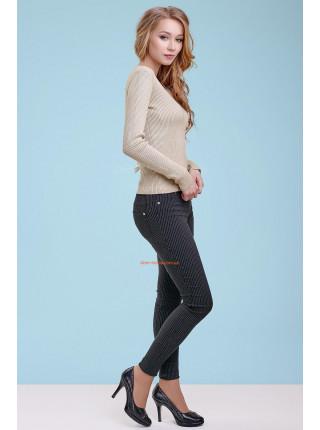 Бежевий жіночий модний пуловер