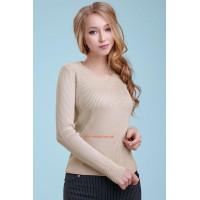 Бежевый  женский модный пуловер