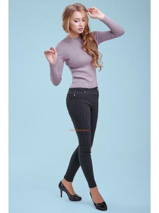 Стильний жіночий джемпер бузкового кольору