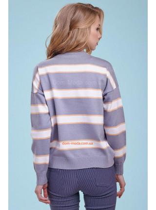 Женский модный джемпер в полоску