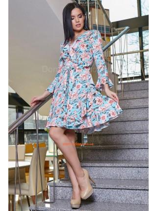 Женское платье летнее с рюшами