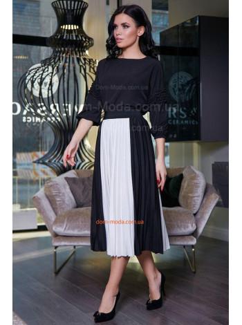 Женская юбка плиссе с завышенной талией