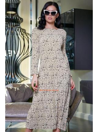 Элегантное женское платье миди с длинным рукавом
