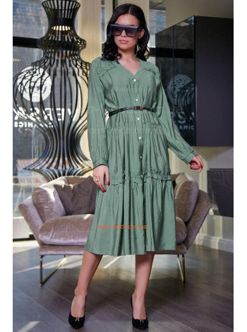Модне плаття коротке із рукавом і поясом